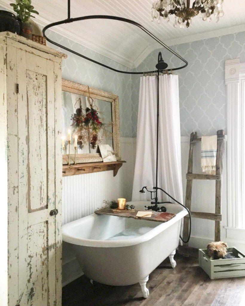 farmhouse bathroom design 45