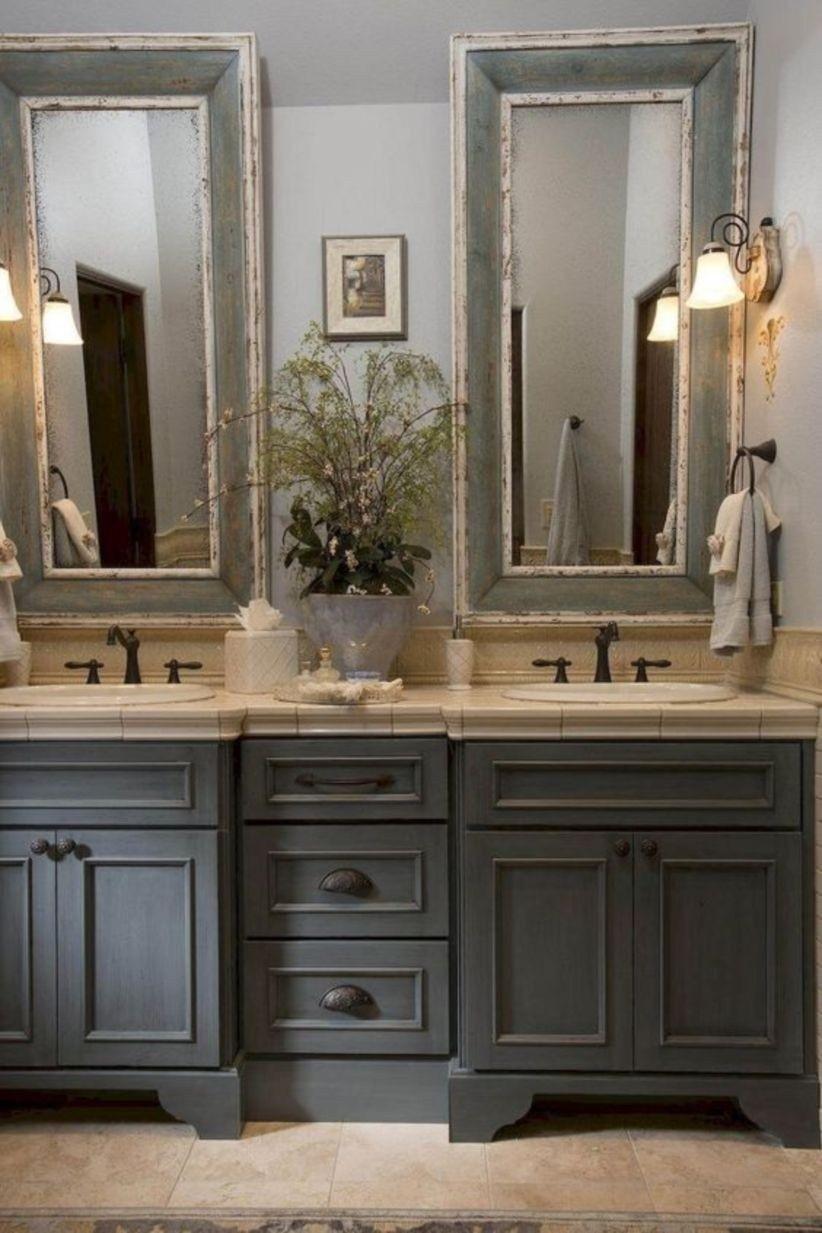 farmhouse bathroom design 49
