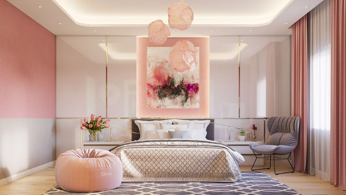 pink bedrooms with images 82