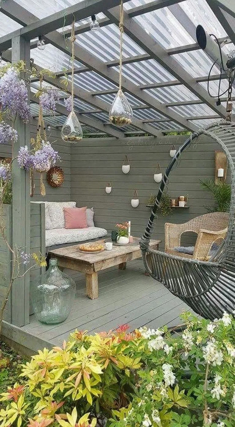 rethink your outdoor space by channeling this dreamy porch swing