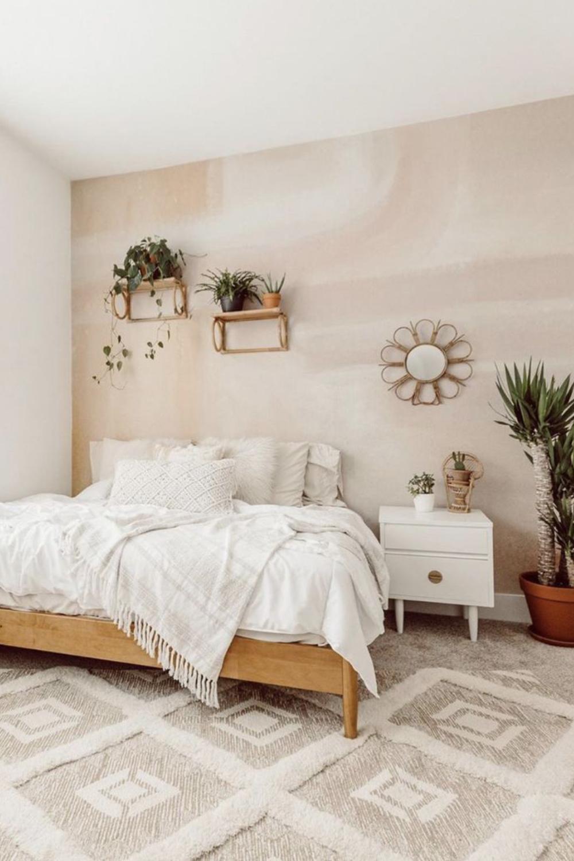 diy bedroom plant shelf with rust oleum2